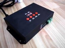 AC110-220V T-1000 Digital Pixel tarjeta SD llevó el regulador con pantalla LCD; comunicación sincronización LED dimmer; max 2048 píxeles