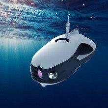 Sónar para pesca de Robot inteligente VR fotografiado por vehículo aéreo no tripulado subacuático en 4K