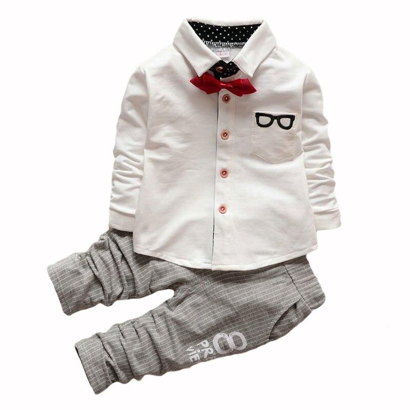 2017 Spring New Baby Boy Long Sleeve t-shirt + pants suit boy Kids Clothing Set free shipping k1