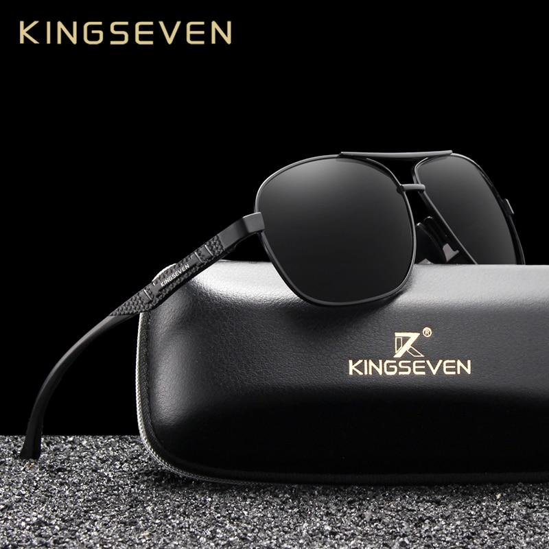 KINGSEVEN 2020 Brand Men Aluminum Sunglasses Polarized UV400 Mirror Male Sun Glasses Women For Men Oculos de sol
