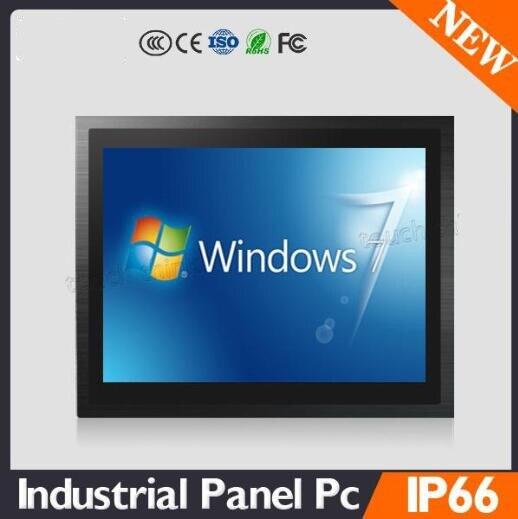 Ordenador pc de panel industrial de 17 pulgadas para nave Atom N270 1,6Hz/D525 1,8Hz procesador de baja potencia DB-9 para 6xRS-232