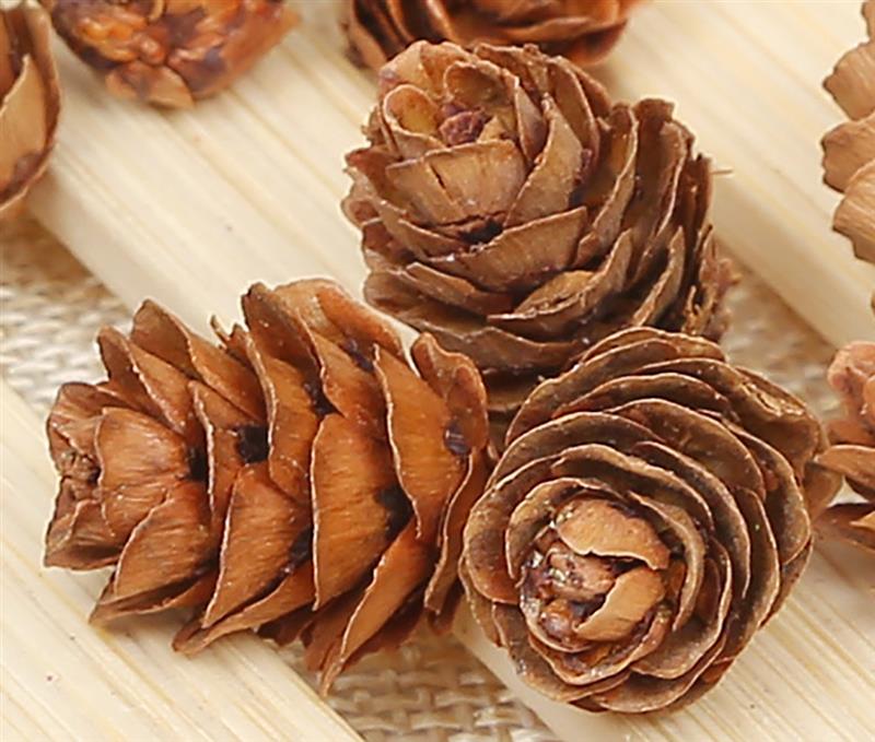 Деревянные елочные украшения из натурального дерева, 20 шт., DIY, 3D, яркие, сосновые шишки, вечерние, рождественские украшения, Декор для дома