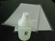 Vilaxh 500ml activateur hydrographique B + 10pc format A4 Film hydrographique noir pour Film dimpression par transfert deau pour imprimante à jet dencre