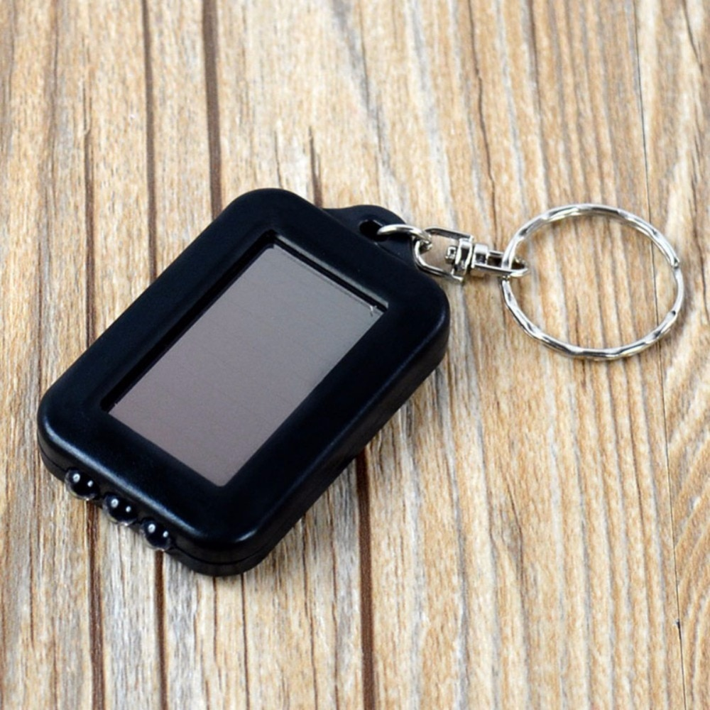 Novedad Mini portátil de energía Solar 3 LED llavero linterna antorcha