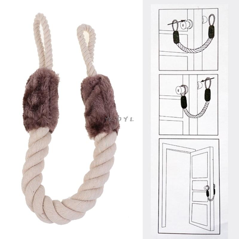 Tope de puerta de Doorstop, de algodón, con nudo marinero, cierre de puerta, cuña, manijas de puerta, topes de puerta, protectores de ventana