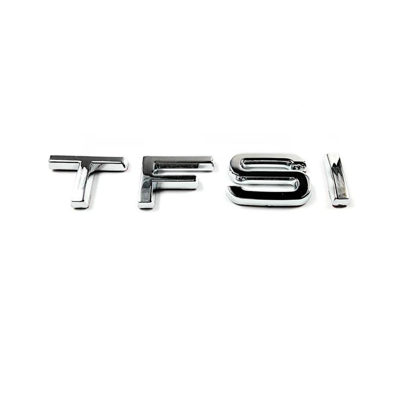 3D пластиковые хромированные автомобильные наклейки TFSI, эмблемы, значки, эмблемы