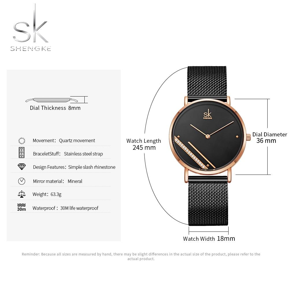 Shengke Montre Femme New Luxury Ladies Watch Fashion Simple Watches Womes Crystal Dial Quartz Watch Women Clock Relogio Feminino enlarge