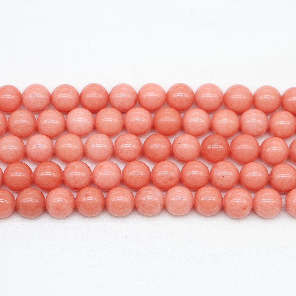 AliExpress - 1strand/lot Natural Stone Orange Bead 4 6 8 10 12 mm Round Loose Spacer Beads For Jewelry Making Findings DIY Necklace Bracelet