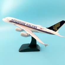 Singapour AIRLINES A380 20cm alliage métal modèle avion turquie B777 avion poulie trains datterrissage Collections artisanat cadeaux jouets