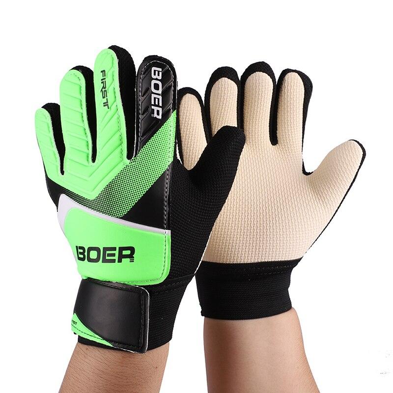 Outdoor sport Entry-level kinder torwart handschuhe torwart fußball nicht-slip finger geprägte handschuhe
