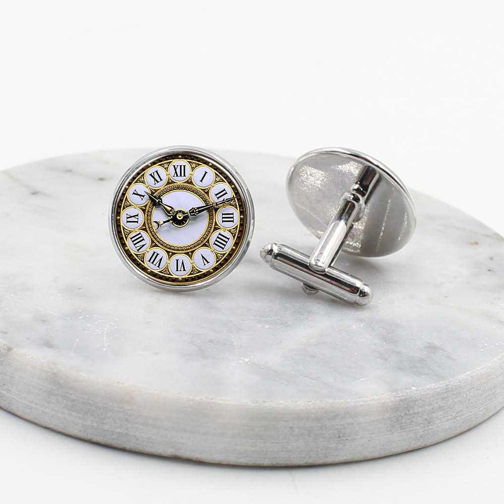 2019 / new high quality punk style glass inlaid cufflinks, men's gift cufflinks, wholesale.