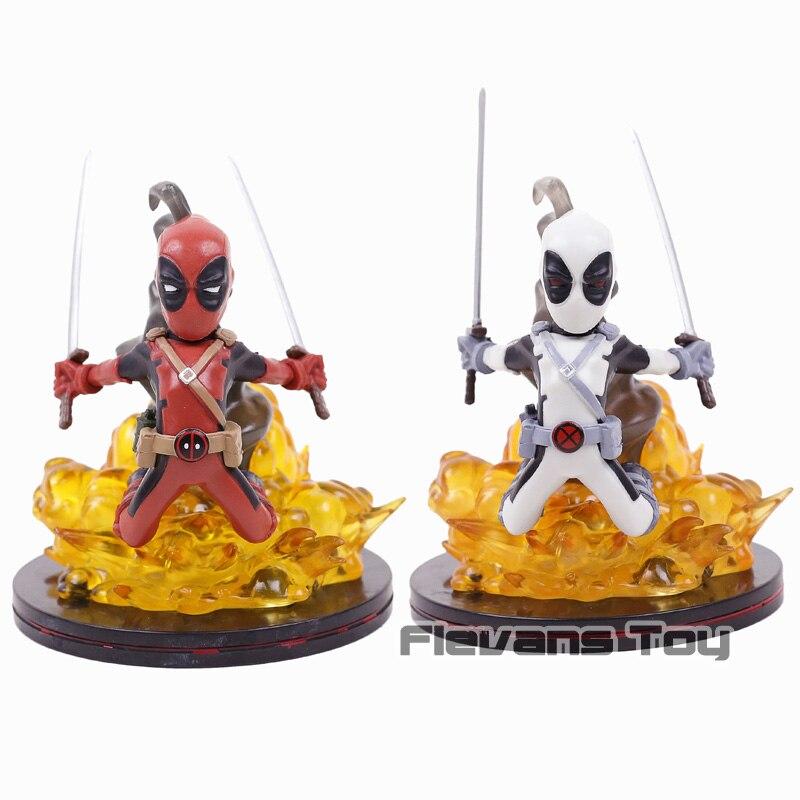 ¡Q-Fig X-Los hombres Deadpool Limited Ver! Figura de PVC estatua juguete de modelos coleccionables Color gris/rojo