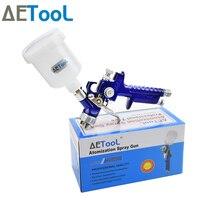 AETool 0.8/1.0mm dysza profesjonalne HVLP pistolety natryskowe opryskiwacz farby Airbrush Mini pistolet do malowania samochodów Aerograph narzędzie