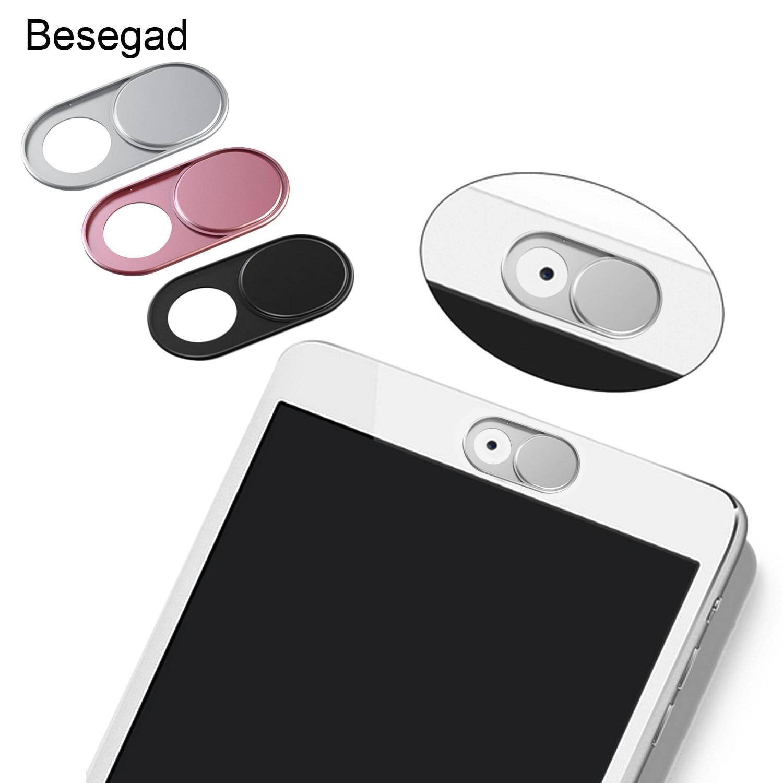 Besegad 3 PCS Ultra-Dünne Webcam Abdeckung Rutsche mit Starke Adhensive für Privatsphäre für Macbook Pro iMac Laptop Computer smartphone