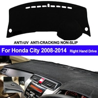 TAIJS Right Hand Drive Car Dashboard Cover Dash Mat For Honda City 2008 2009 2010 2013 2014 Auto Non-slip Sun Shade DashMat Pad