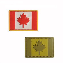 Parche de bandera de Canadá, parche de mochila 3D de PVC, bolso, chaqueta, brazalete con insignia, insignia del ejército, parches militares para fanáticos