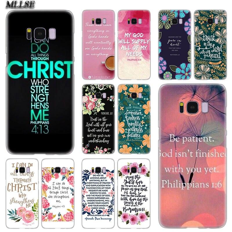 MLLSE Bible verse  Jesus Christ Christian Hot Hard Case Cover for Samsung Galaxy S10 Lite S9 S8 Plus S7 S6 Edge S5 S4 Mini Cover