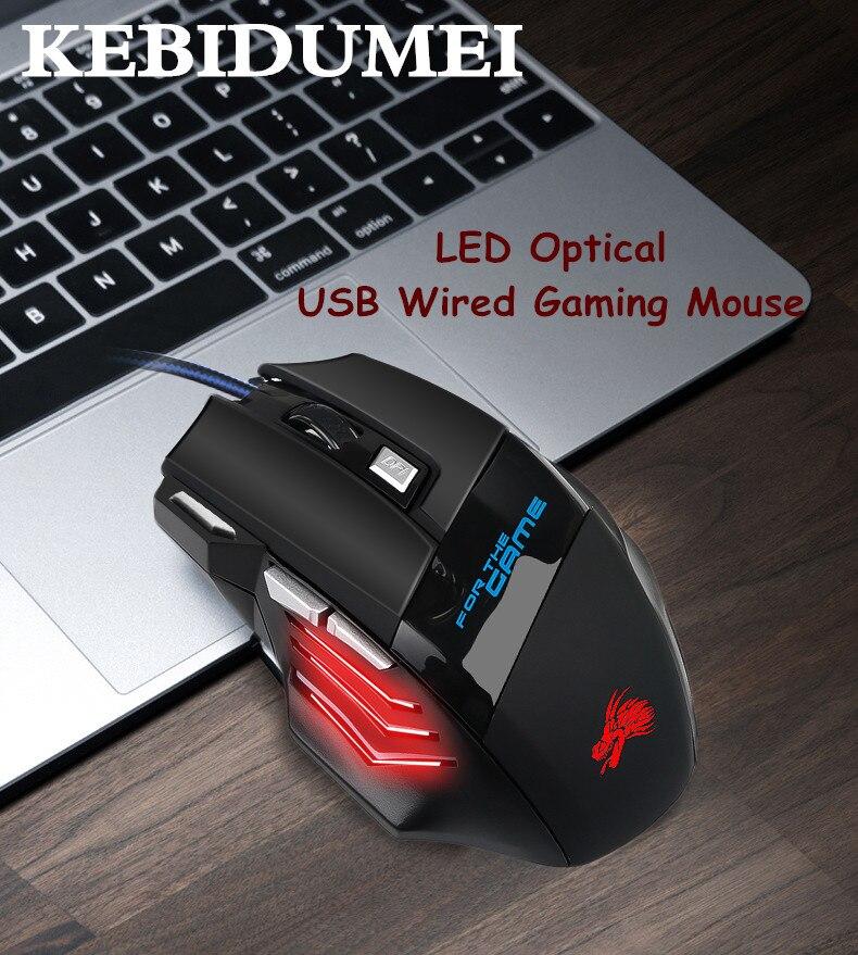 5500 dpi profissional led óptico wired gaming mouse usb computador mouse gamer ratos x7 jogo rato silencioso mause 7 botão para pc