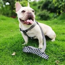 Harnais en Nylon de base réglable   Harnais de chien, pas de traction, gilet de marche en plein air, entraînement petit moyen pour chien de compagnie