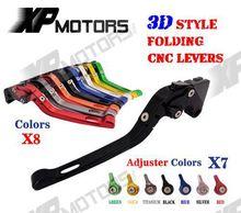 CNC 3D Fühlen Folding Einstellbare Bremse Kupplung Hebel Für Honda CBR125R CBR150R 2004-2012 2005 2006 2008 2010 CBR 125R 150R NEUE