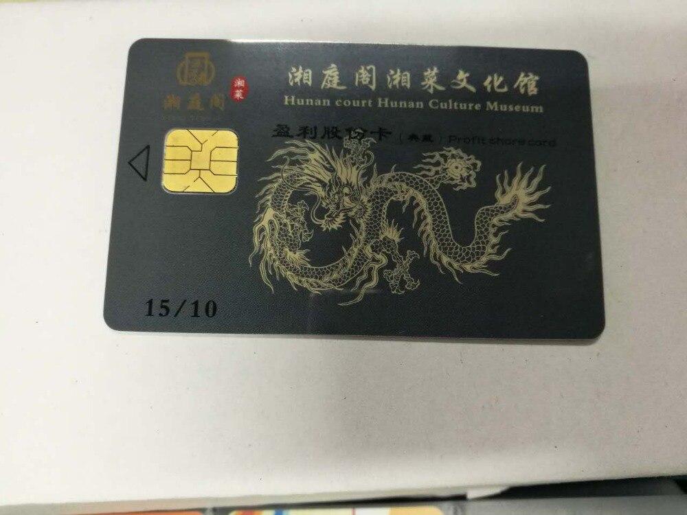 Impressão personalizada de plástico pvc 4428/4442 contacto do smart card, RFID cartão de contacto