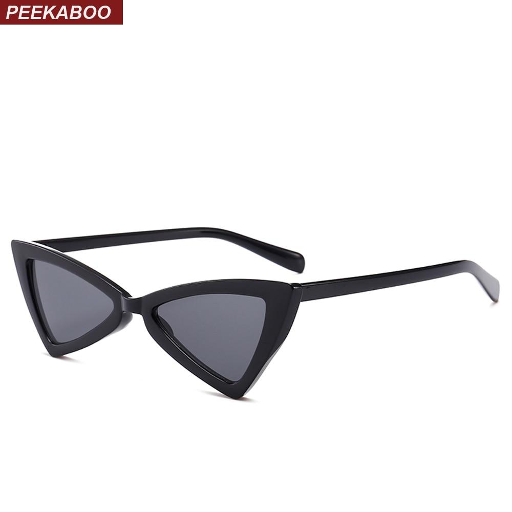 Peekaboo красные треугольные солнечные очки Женские кошачий глаз винтажные черные леопардовые дешевые солнцезащитные очки с бабочками женски...