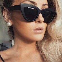 2018 New Women Cat Eye Sunglasses Matt black Brand Designer Cateye Sun glasses For Female goggles UV