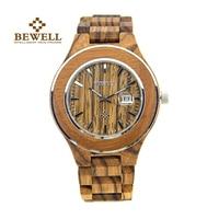 BEWELL men's watch wood watch handmade brand design luxury waterproof business gift classic retro style watch 100AG