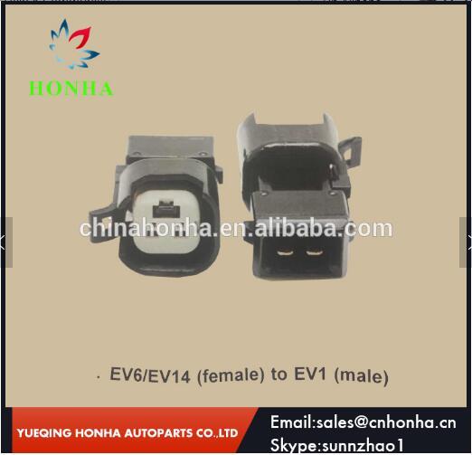 Free shipping EV6 EV14 female to EV1 male 2 pin waterproof connector