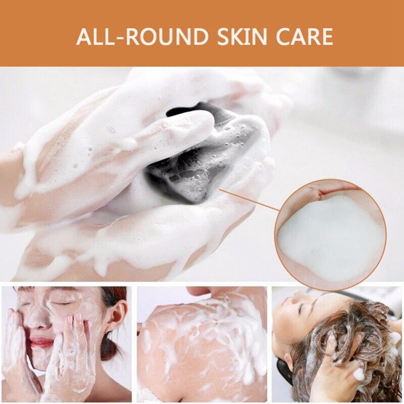 2019 nueva cara natural jabón de lavar azufre jabón cuerpo limpieza jabón para el rostro de ducha de baño Anti ácaros Ginseng jabón