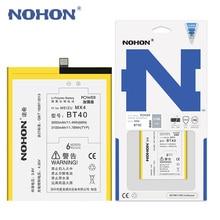 Bt40 original bateria nohon para meizu mx4 mx 4 baterias de substituição do telefone bt 40 m461 m460 3100 mah bateria varejo pacote
