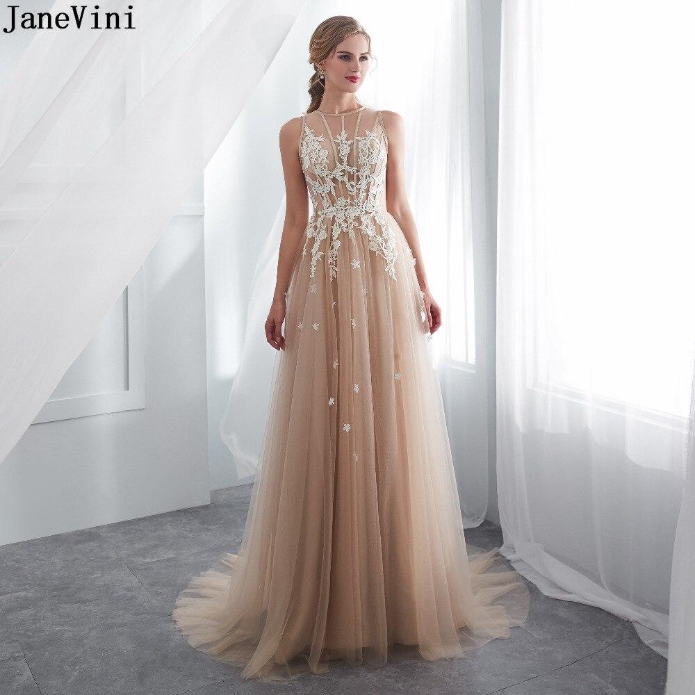 JaneVini-vestidos de encaje para dama de honor, elegantes vestidos de encaje para...