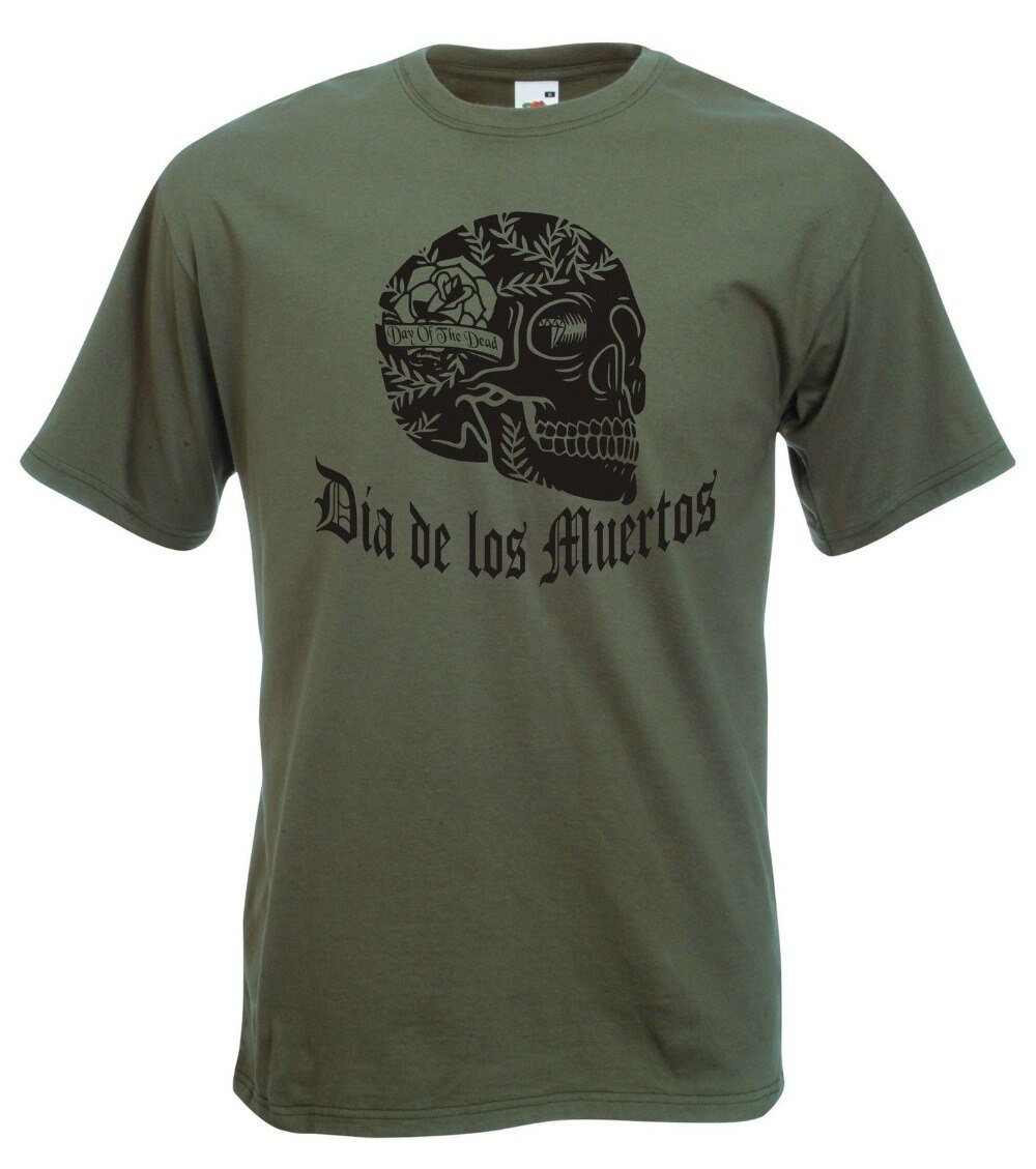 2019 camisetas para hombre Original Día De Los Muertos camiseta calavera mexicano-Día De Los Muertos, gótico, camisetas rock con capucha
