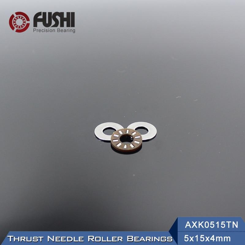 AXK0515TN + 2AS cojinete de agujas de empuje con dos AS0515 arandelas de 5*15*4mm (10 uds) AXK0515 889015 NTB0515Bearings