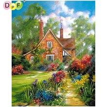 DPF DIY casa carril 5D diamante mosaico completo cuadrado decoración del hogar artesanías bordado diamante pintura punto de cruz costura