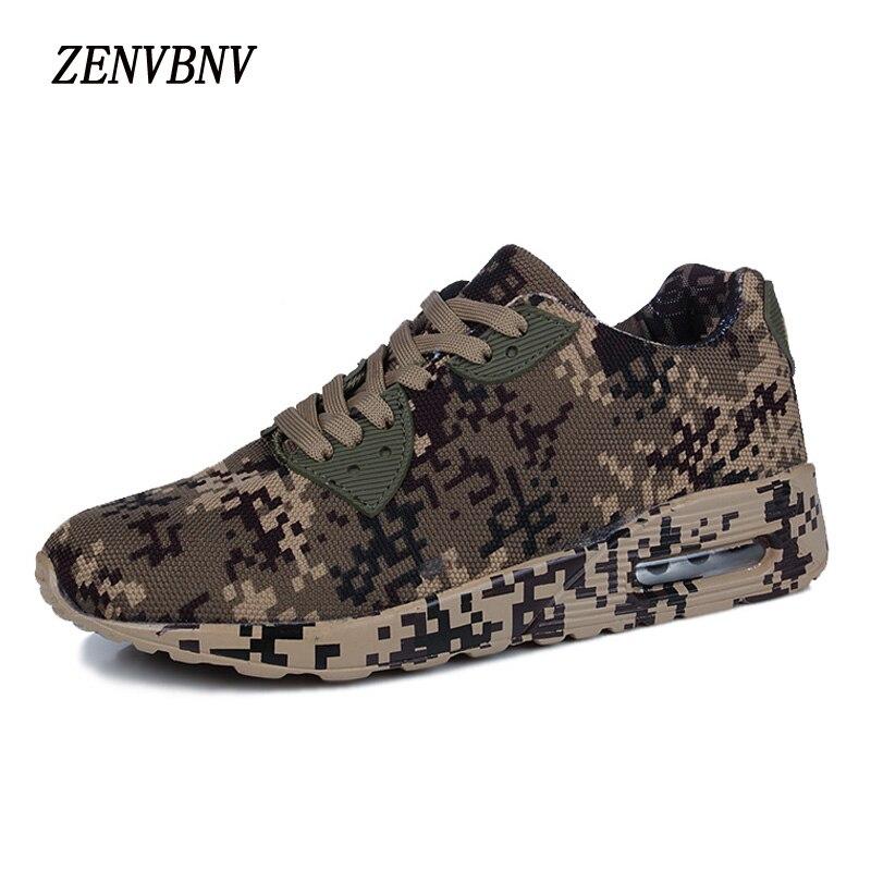 ZENVBNV nueva primavera clásico cómodo zapato transpirable súper ligero camuflaje par zapatos cojín hombres casual zapatos de gran tamaño