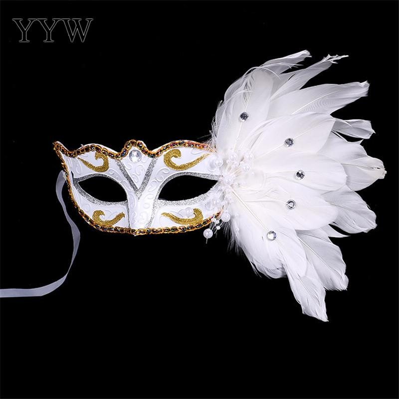 1pc Women Sexy Eye Mask Halloween Venetian Mask Feather Party Masks For Masquerade Prom Costume Carnival Masker Wholesale Masque