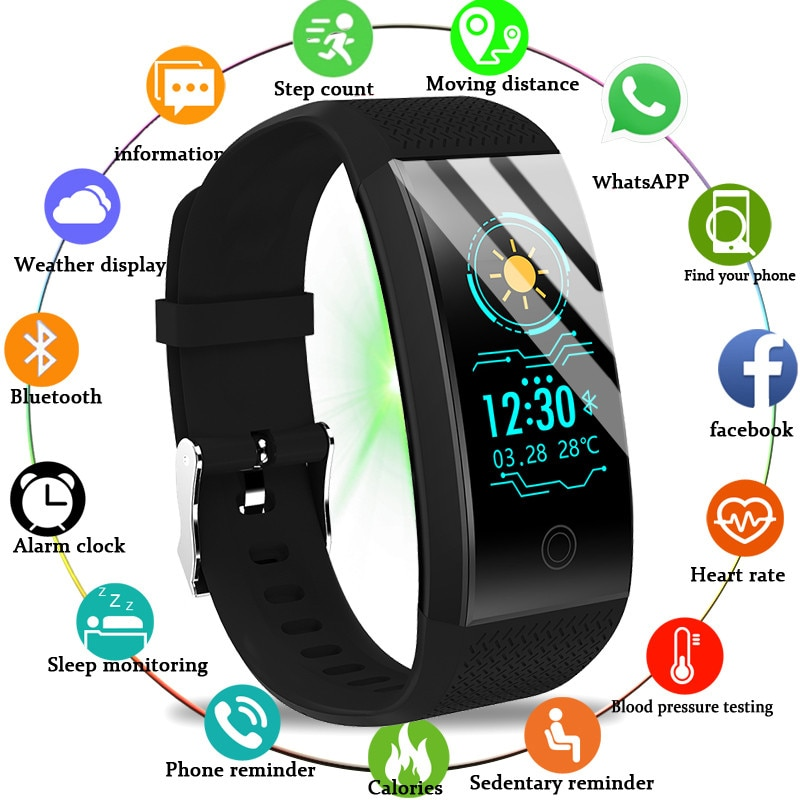 BANGWEI 2020 New Men Smar watch Blood pressure heart rate monitor Tracker Student Sleep Swimming Electronic Watchs And Women