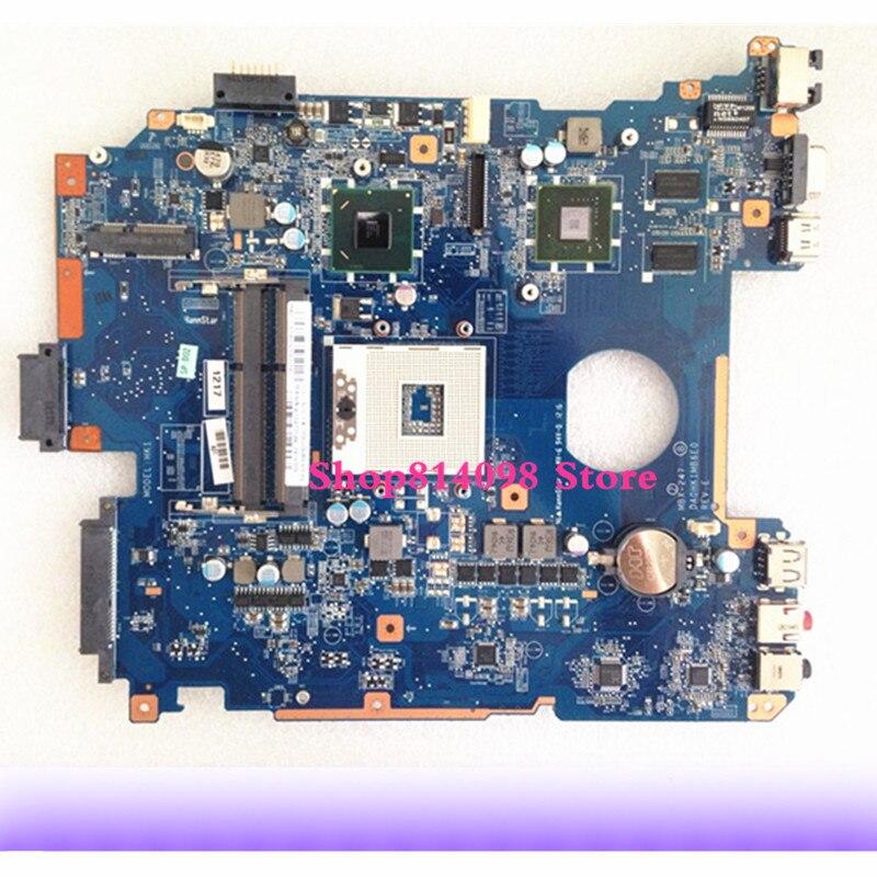 Totalmente probado para la placa base del ordenador portátil Sony Vaio VPCEH MBX-247 DA0HK1MB6E0 A1827702A Rev E
