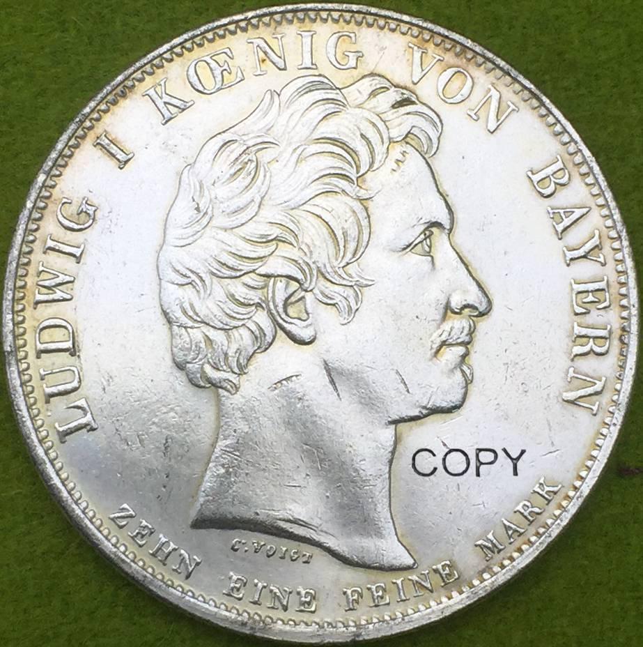Monedas de estados alemanes 1828 THALER copia Enchapado moneda de plata bendiciones del cielo en la familia real
