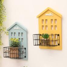Practical Storage Wall Shelf Wooden House Shelving Display Unit Shelf Wall Hanging Box Craft Kitchen Garden Decorations