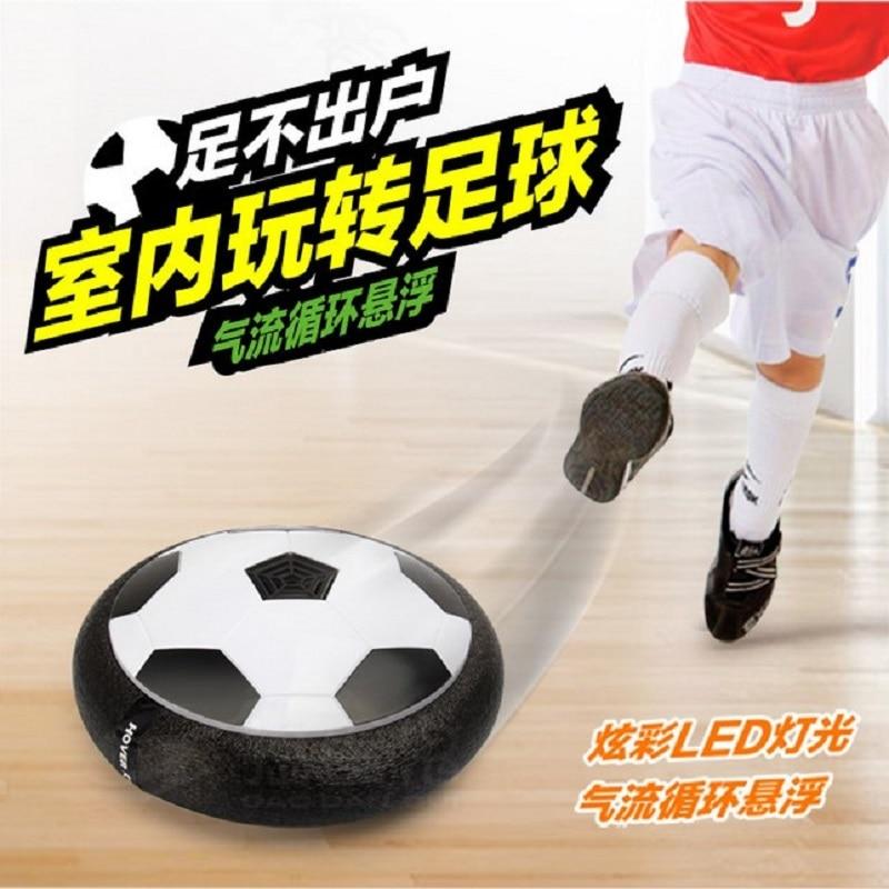 Disco de fútbol de potencia aérea divertido Multi-superficie que flota y juguete deslizante, espuma suave flotante de interior Led que ilumina el juego de fútbol intermitente