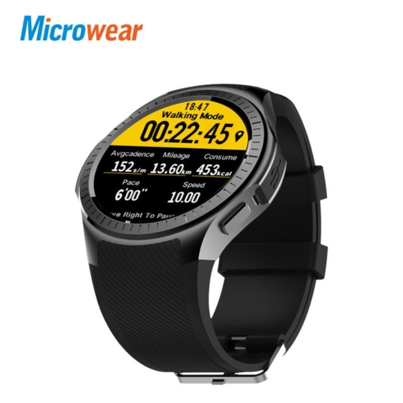 Microwear L1 2G Wifi GPS Smart Watch Phone Camera Fashion Sport SmartWatch Heart Rate Pedometer Bluetooth TF card