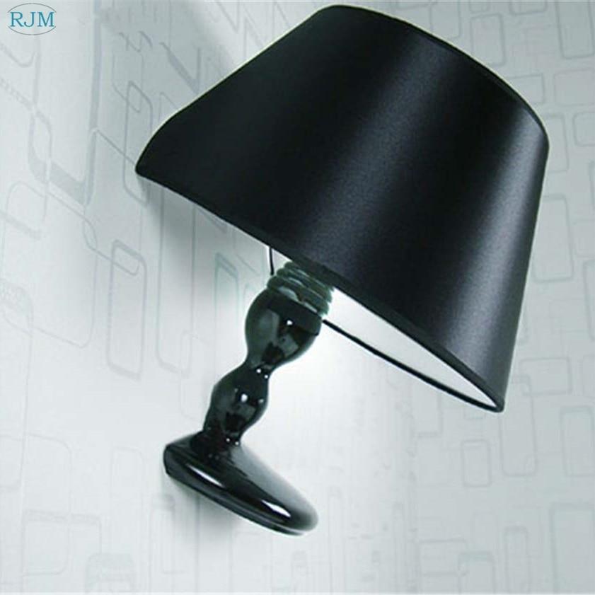 Современные креативные светодиодные Настенные светильники, модные неполные красивые белые/черные Настенные светильники из смолы, высокое ...