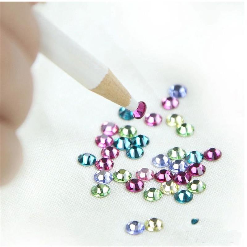 Nail Art Rhinestones Gems Picker Wax Pencil wood Pen Picker Crystal Dotting Tool DIY Decoration 2 Pieces/Lot