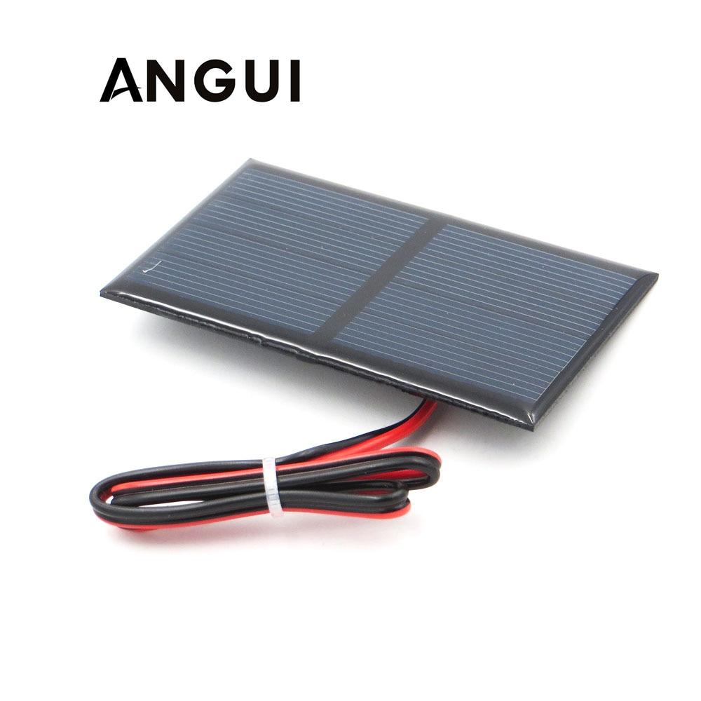 2V 300mA con 30cm extender cable Panel Solar silicio policristalino bricolaje módulo para cargador de batería Mini célula Solar de juguete