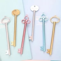 15 pcslot key shape gel pensfashion girl pen for school stationery office supplies student learning writing pen free shipping
