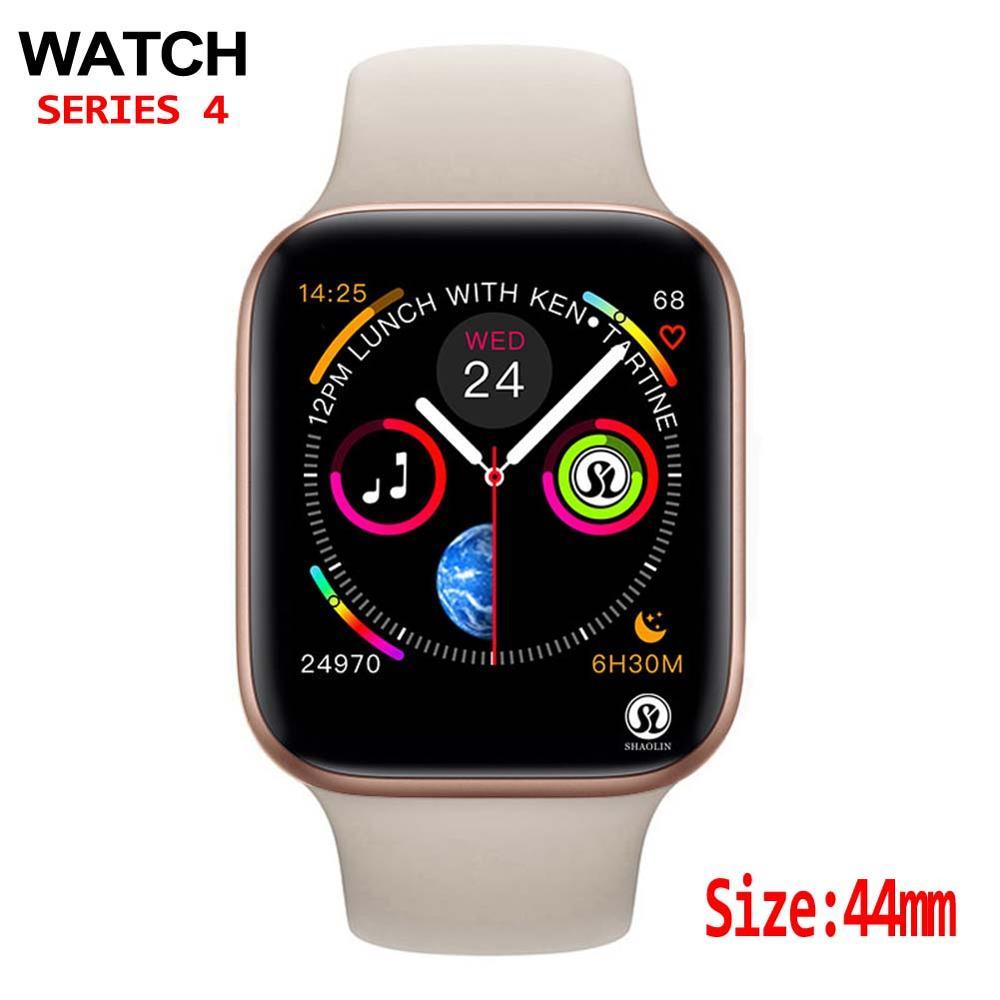 44 مللي متر الرجال Smartwatch ل أبل ساعة آيفون 6 7 8 X سامسونج أندرويد هاتف ساعة ذكية دعم Whatsapp