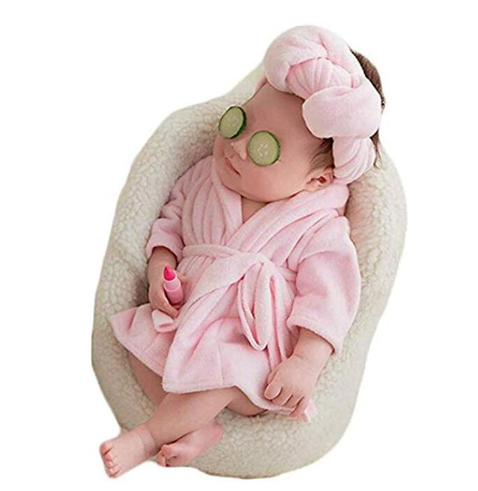 Recién Nacido bebé fotografía traje de utilería para fotos albornoces de baño toalla manta sesión de fotos trajes conjunto de ropa de fotos infantil