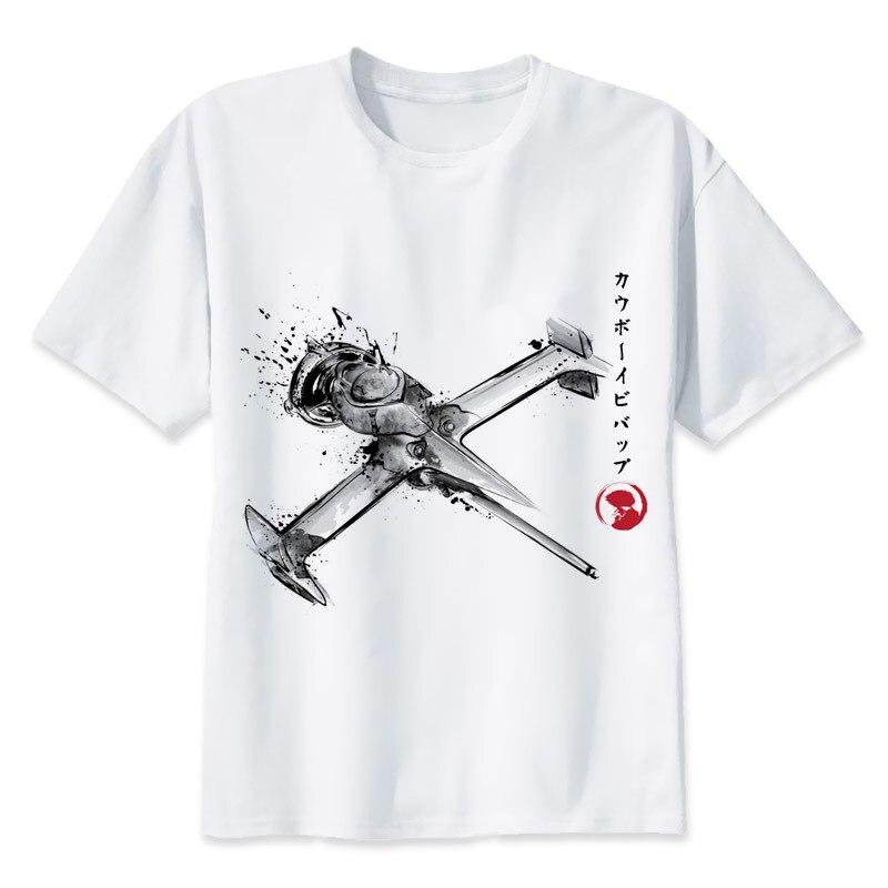 Футболка с принтом «Ковбой Бибоп», Мужская футболка с принтом, модная футболка с коротким рукавом и круглым вырезом, MR1293